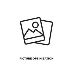 Picture optimization vector icon