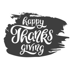 Happy Thanksgiving greeting lettering. Hand Lettering. Vector, eps 10.