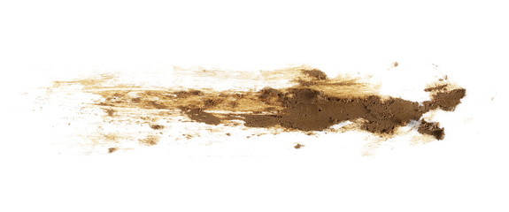 drops of mud sprayed isolated on white background, with clipping path Wall mural