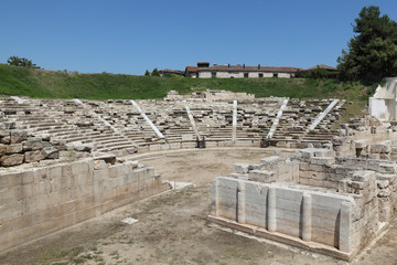 The first ancient theatre Larissa Grece, the largest theater in Thessaly constructed in 3rd BC