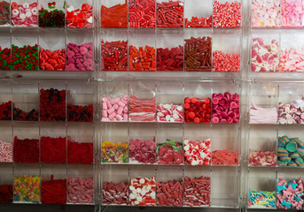 Sweets of different shapes and sizes
