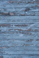 Blue wood texture background. Horizontal wood planks
