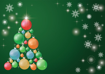 Decorated Christmas tree, beautiful New Year's background. EPS 10
