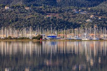Sailboats in Lefkada, Greece