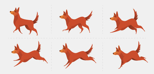 Red dog symbol of the year 2018.