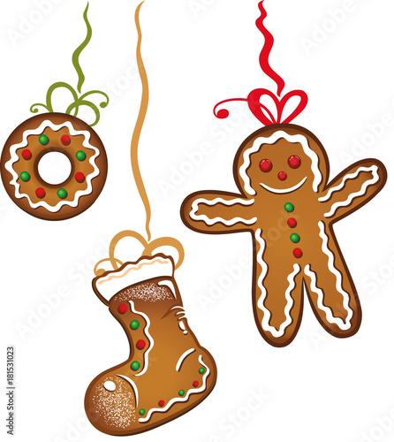 Weihnachtsplätzchen Clipart.Bunte Weihnachtsplätzchen Lebkuchen Gebäck Plätzchen Stockfotos