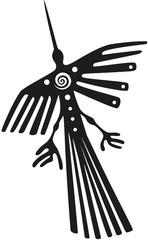 Nazca Linien in Peru, der Kondor.