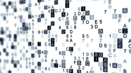 Digital data hex code with DOF