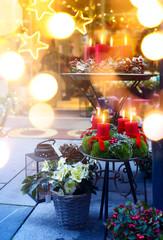 Christmas Crafts Fair; European Christmas  Market Scene;