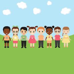 Happy children concept