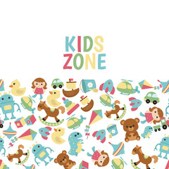 Background with children toys