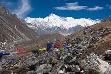 The south side of Cho Oyu from Gokyo. Himalayas. Nepal