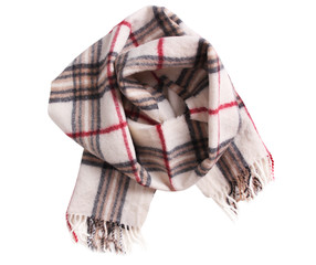 Checkered scarf isolated.