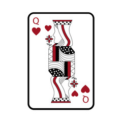 queen of hearts french playing cards related icon image vector illustration design
