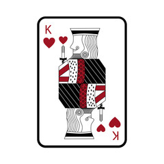 king of hearts french playing cards related icon image vector illustration design