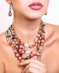 beautiful female handmade necklace