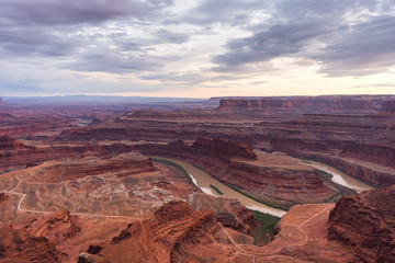 Sunset at Dead Horse Point State Park, Moab, Utah, USA