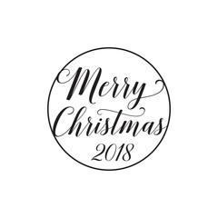 Merry Christmas 2018 lettering