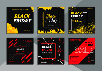 6 Black Friday Social Media Commerce Layouts