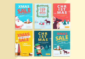 6 Christmas Social Media Commerce Layouts