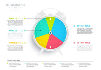 Colorful Pie Chart Clock Infographic
