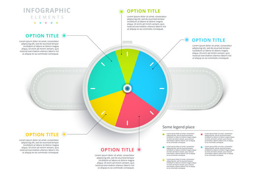 Colorful Pie Chart Watch Infographic