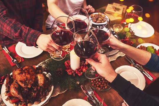 People Cheers Celebrating Christmas Holiday Concept