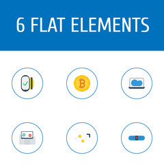 Flat Icons Bluetooth Speaker, Arrow, Technology And Other Vector Elements. Set Of Trendy Flat Icons Symbols Also Includes Arrow, Money, Phone Objects.