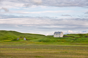 Isolated house, sudurland, South Iceland, Iceland