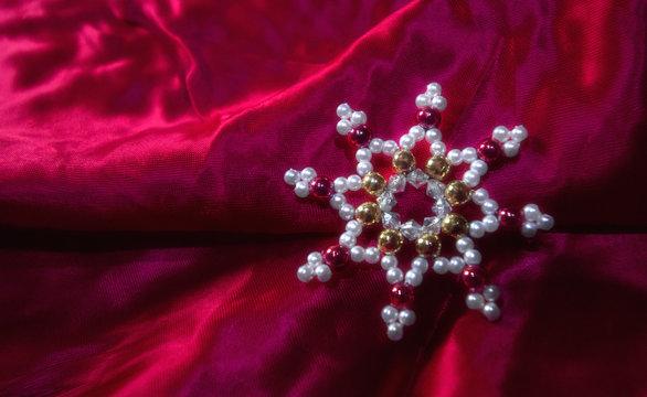 Weihnachtsmotiv rot, Stern