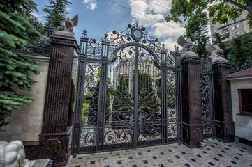iron forged large gate
