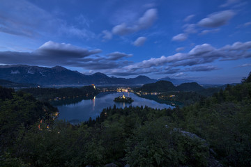 Bled at night