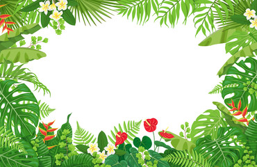 Tropical Plants Frame