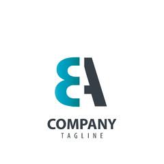 Fototapeta Initial Letter BA Design Logo obraz