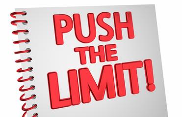 Push the Limit Notebook More Best Effort 3d Illustration