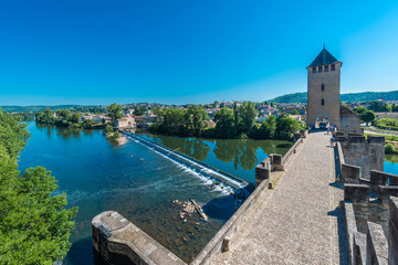 Pont Valentre in Cahors, France.