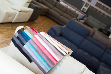 Image of catalog of upholstery colors