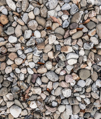 Texture made of river rocks