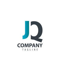 Initial Letter JQ Design Logo