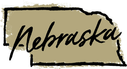 Hand Drawn Nebraska State Design