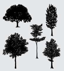 Tree natural silhouette. Good use for symbol, logo, web icon, mascot, sign, sticker, or any design you want.