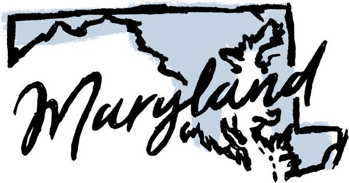 Hand Drawn Maryland State Design