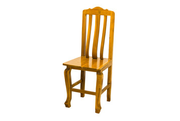 The wooden Chair isolated with clipping Path