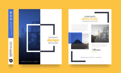 poster flyer pamphlet brochure cover design layout space for photo background, vector template in A4 size Wall mural