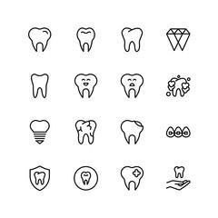 Teeth flat icon