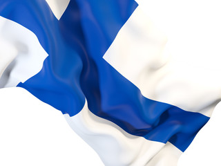 Waving flag of finland