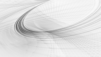 Abstract white background texture. Dynamic curves ands blurs pattern. Detailed fractal graphics. Science and technology concept.