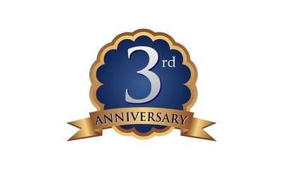 3rd anniversary years gold