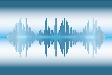 Music wave background.