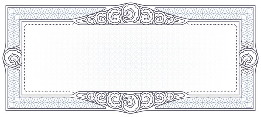 Vector template for the design of certificate, advertisements, invitations or greeting cards